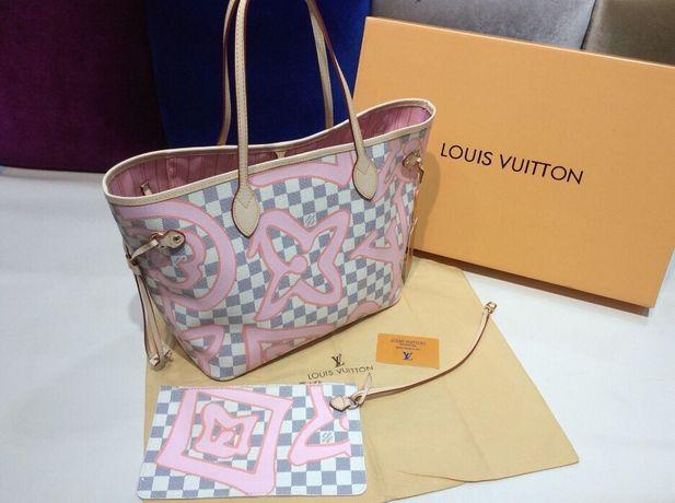 Geanta Louis Vuitton piele naturală/cod de autenticitate in interior