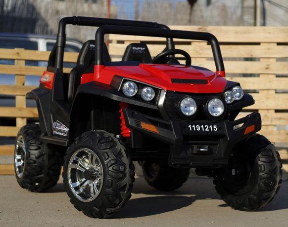 UTV electric pentru 2 copii Golf-Kart 4x 45W 24V cu Bluetooth #Rosu