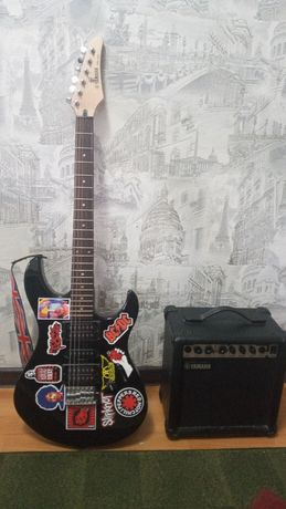 электрогитара Yamaha erg121c и комбик