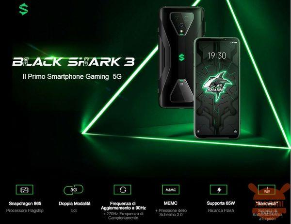Xiaomi Black Shark 3 игровой телефон нового поколения 12/256gb. 5G