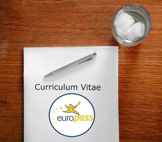A Realizare CV redactare modificare CV EUROPASS, SCRISOARE INTENȚIE