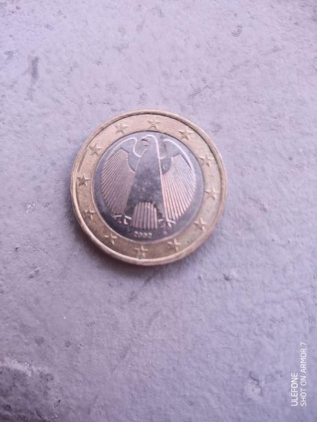 Moneda 1 euro 2002 G Germania foarte rara