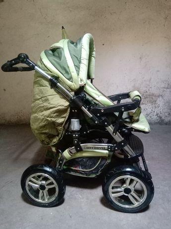 Високопроходима Зимна бебешка количка Bertoni City