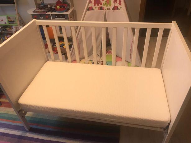 Pătuț bebe Ikea Sudvik+saltea Premium Evolution, Aerosleep+2 lenjerii