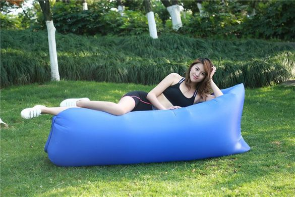 Синьо Bubble bed (lazy sofa bag) надуваемо легло-голям размер
