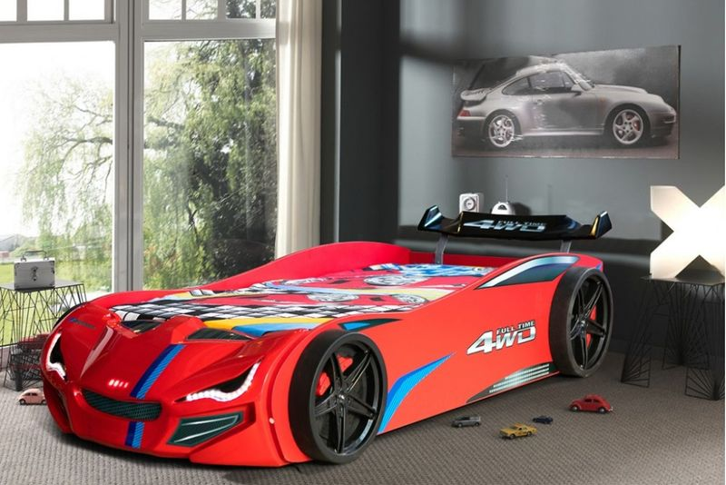 Легло кола GT1 червена гр. Бургас - image 1