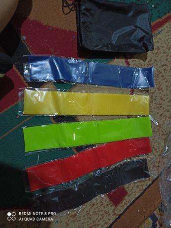 Фитнес резинки 5 шт и мешочек для хранения .