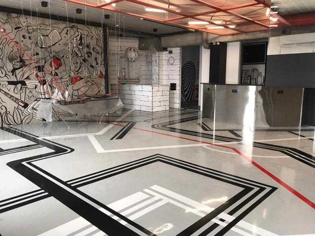 Полы бетонные, топпинговые, полимерные, 3D полы.