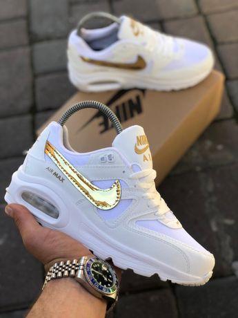 Adidasi Dama Nike Air Max White & Gold