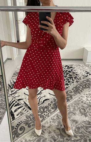 Продам легкое платье на запах из шифона , размер 42-46