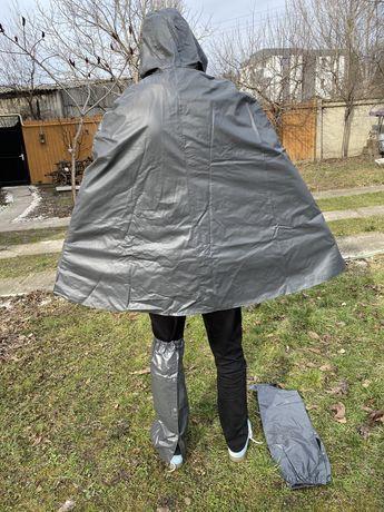 Pelerina cauciucata/ costum/poncho ploaie NOUA protectie picioare