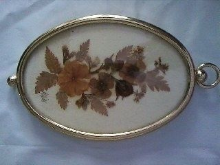 Tablou flori presate vintage Anglia, pt. camera copiilor