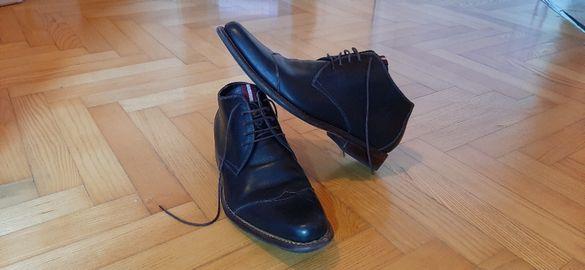 Floris Van Bommel мъжки обувки естествена кожа черни номер 42
