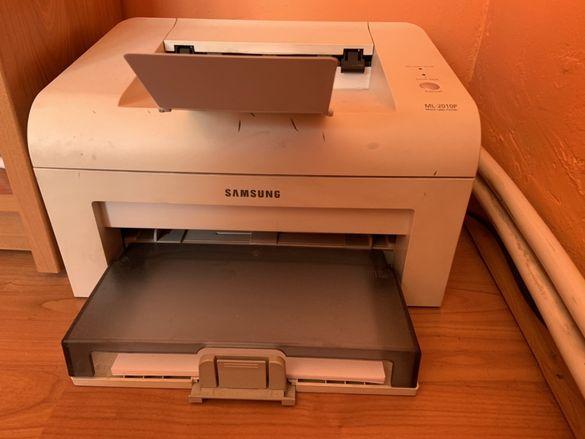лазерен принтер Samsung ML-2010P+две чисто нови тонер касети