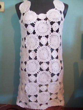 плетена дамска рокля на една кука №46