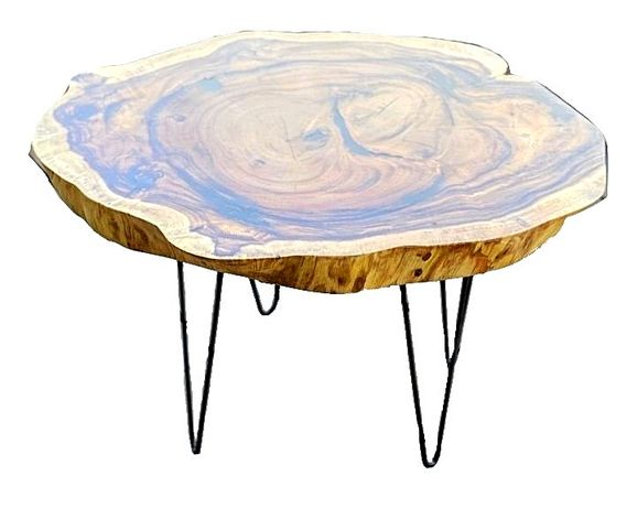 Masa rotunda din lemn exotic de suar, M 1.250 lei