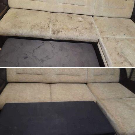 Услуги химчистки мягкой мебели и ковров.Без выходных