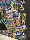 100 бр. БОМБ BOMB стикери изрязани по контур всеки поотделно СУПЕР