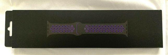 Curea Apple Watch Black/Hype/Grape Nike sport band 40mm Originala!