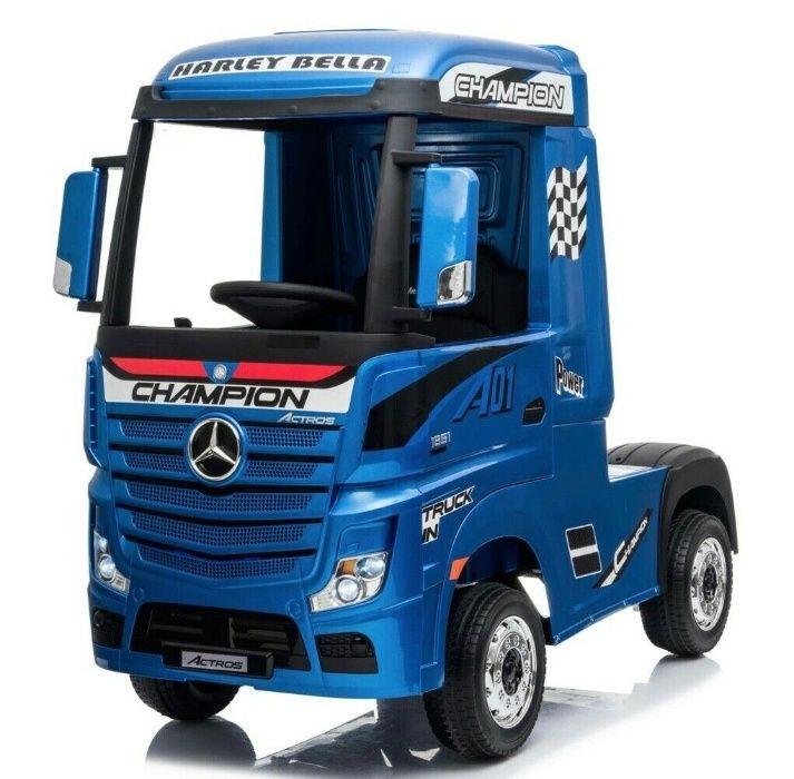 Camion electric pentru copii Mercedes ACTROS 4x4 STANDARD #Albastru