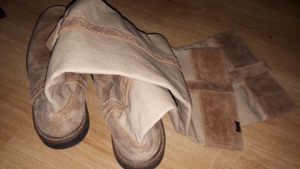 Camper ботуши кожа и текстил