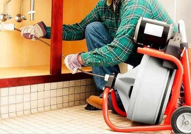 Прочистка канализации аппаратом, круглосуточно, недорого, чистка труб