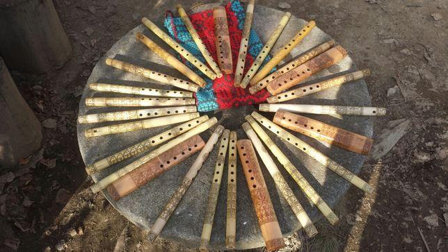 Vând fluier simple si duble lucrate si gravate manual din Ardeal