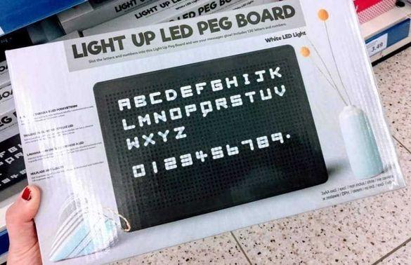 Светещо ЛЕД Led табло / дъска със 120 букви и символи