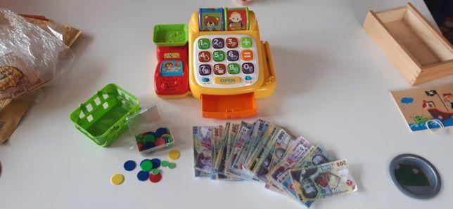 Casa marcat Vtech jucarie + mini cosulet, bancnote, banuti
