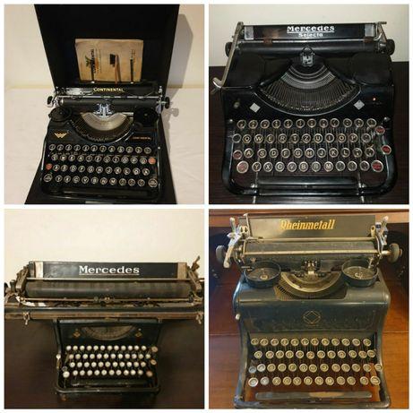 Masini de scris Mercedes, Continental, Rheinmetall început de secol XX