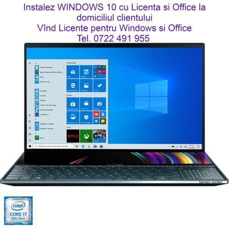 50Lei Instalez WINDOWS 11*10 *Office 2019 la domiciliul clientului