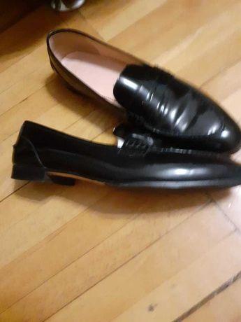 Лакированные туфли лоферы J.Crew
