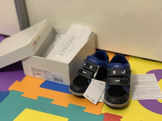 Pantofi/Ghete piele Geox cu leduri