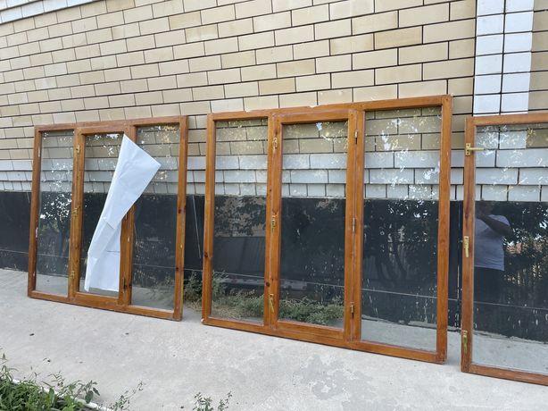 Деревяные окна б/у