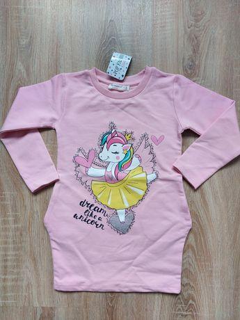 Детска рокля еднорог памук