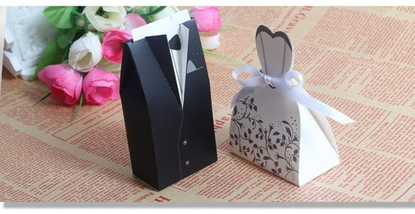 Подаръчни кутийки за булка и младоженец - 20 бр.