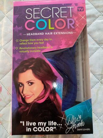 Продавам изкуствени кичури /Hair extensions Secret Color Demi Lovato