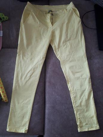 Дамски спортно-елегантен панталон, 100% памук, размер L, жълт
