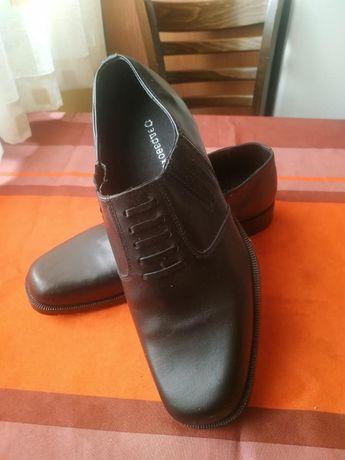 Мъжки офицерски обувки - естествена кожа. Номер 45