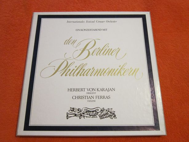 vinil vioara Christian Ferras,dir.Karajan-O seară de concert,4LP-cadou