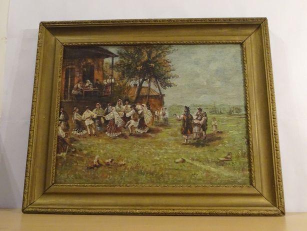 Tablou, Hora de la Aninoasa, Ludovic Bassarab dupa Theodor Aman