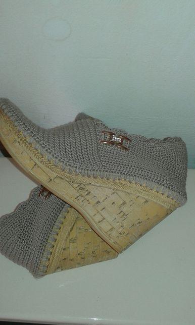 Papuci tricotati 36/22 cm