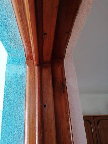 Usi interior cu toc, lemn masiv stejar, cu geam, 4 bucati