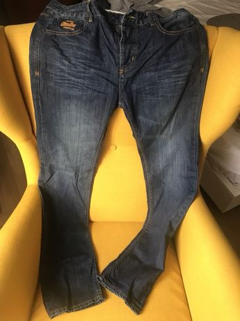 Jeans Blugi Superdry Vintage Slim 32x32 noi - PRET FIX
