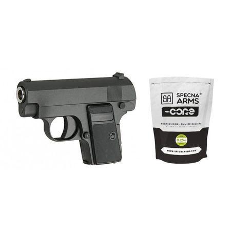 Pistol airsoft Colt C1 Ful metal plus 1000 de bile Cadou