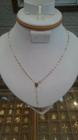 Lantisor din aur alb, galben si roz 14K-IERUSALIM