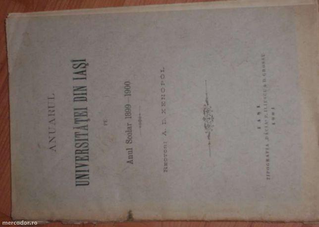 Anuar Universitatea din Iasi an scolar 1899-1900
