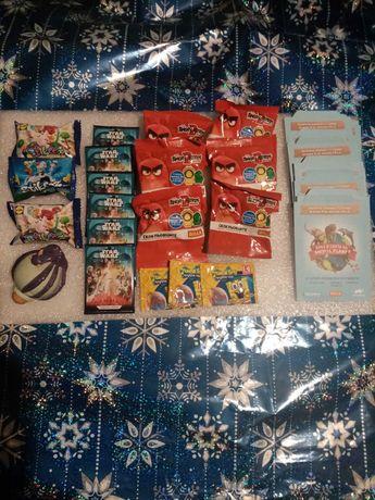 Комплект. Колекция стикери, стикита, спинери, карти + подарък пумпал.