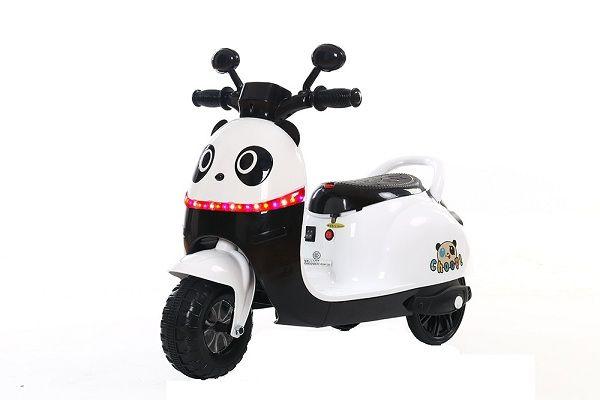 Scuter electrica pentru copii Panda 20W 6V #Alb