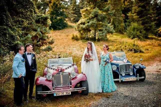 Masini de epoca,de lux,fum greu,aranjamente florale,oglinda fotobooth